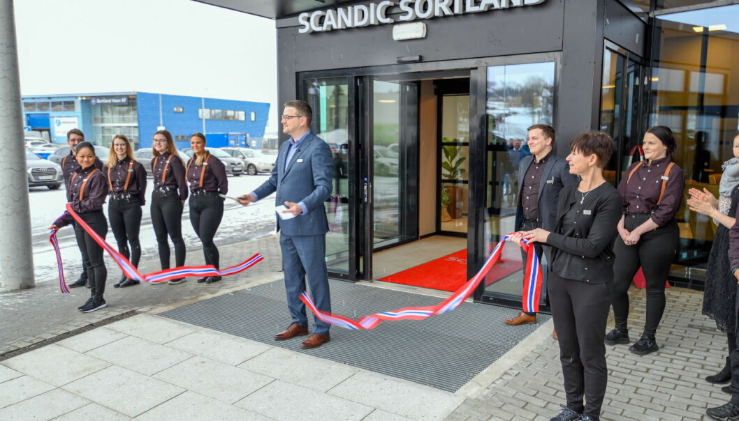 Scandic Sortland ble åpnet mandsag 15. mars 2021. (Foto: Scandic Hotels)
