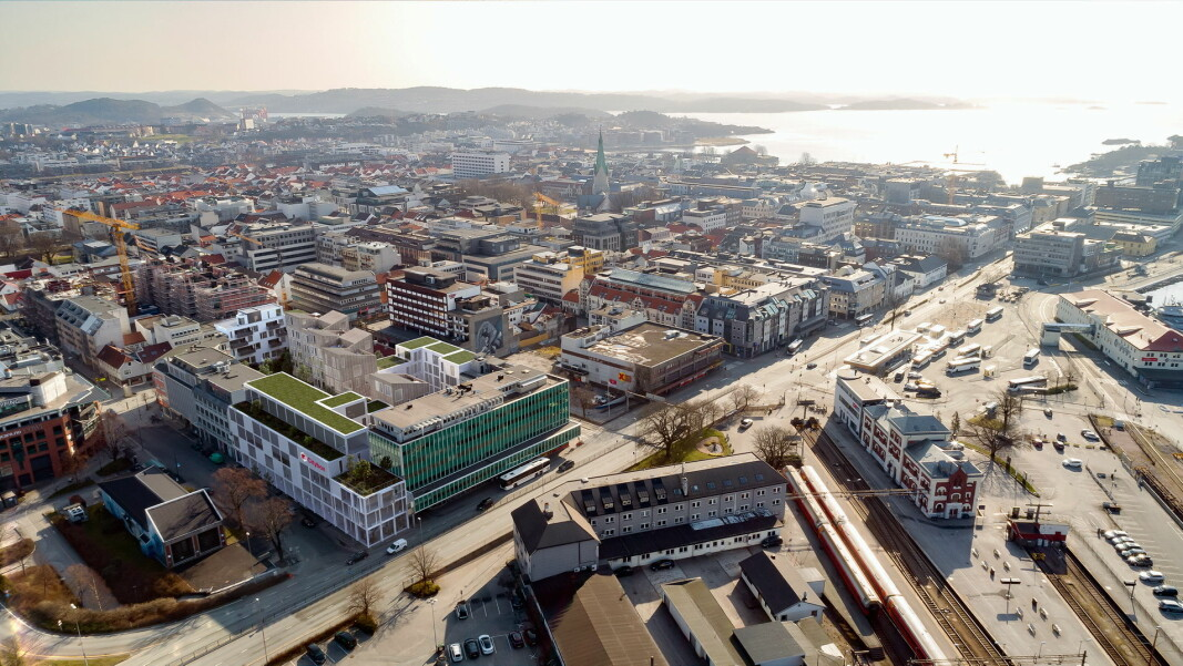 Citybox Kristiansand, som åpner i 2024, oppføres i Kvartal 1 i byen. (Foto: Citybox)