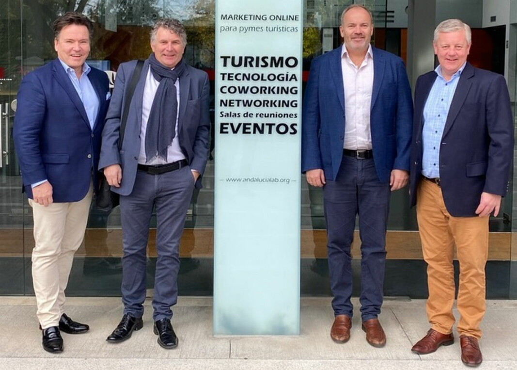 Nordic Traveltech Lab ble grunnlagt av Martin Jørgensen, Jan Hassel, Per Arne Friestad og Per-Arne Tuftin. (Foto: Nordic Traveltech Lab)
