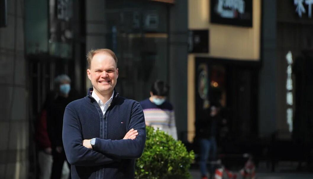 Andreas Thorud blir sjømatrådets nye utsending i Kina. Direktør for Globale operasjoner, Børge Grønbech, mener Thorud blir en viktig brikke i et spennende sjømatmarked. (Foto: Privat)