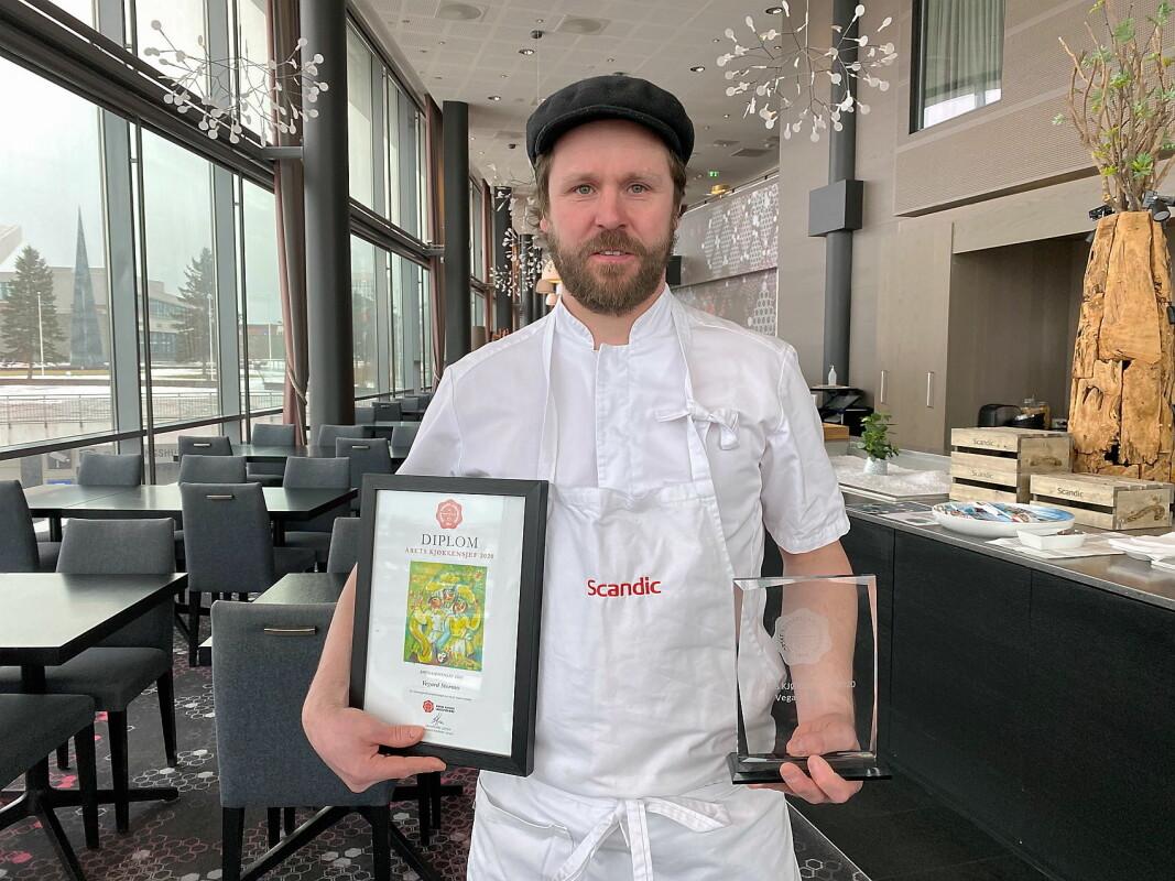Vegard Stormo er Årets kjøkkensjef 2020. (Foto: Scandic Hotels)