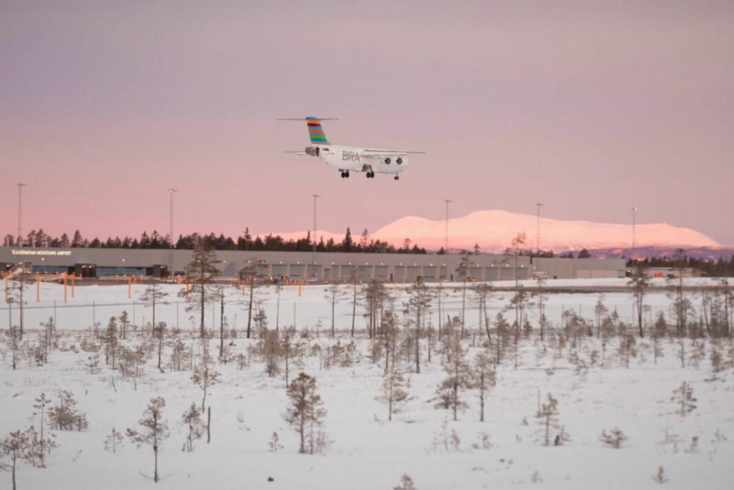 I sommer vil BRA lande på Scandinavian Mountain Airport, 40 minutter fra Trysil. (Foto: Scandinavian Mountain Airport)