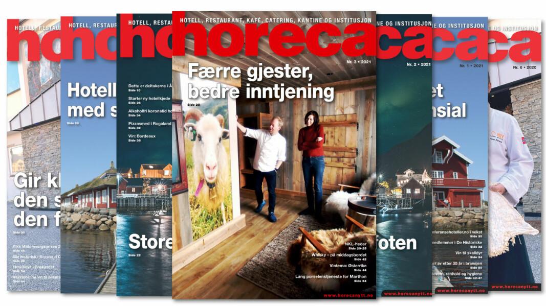 Forsiden på Horecas tredje utgave i 2021. (Foto: Ketil Sandviken/layout: Kari-Anne Ruud)