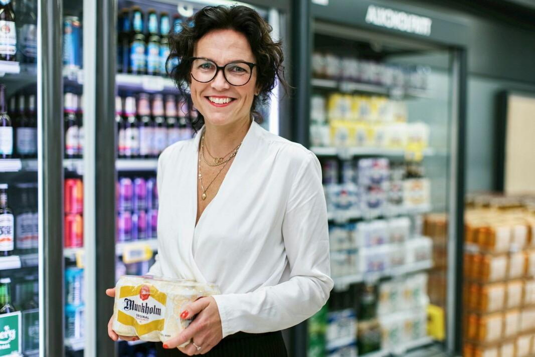 Kommunikasjonsdirektør i Ringnes, Johanna Ellefsen Rostad, tror på sterk vekst innen alkoholfritt øl. (Foto: Kilian Munch)