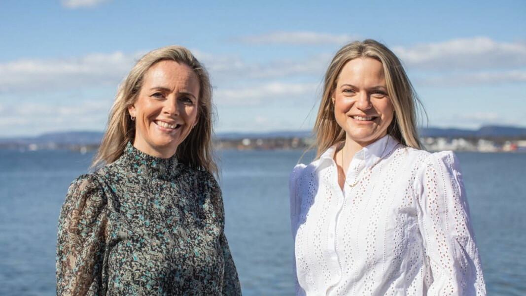 Camilla Beck (til venstre) og Guro Jahre Lund. (Foto: Norges sjømatråd)