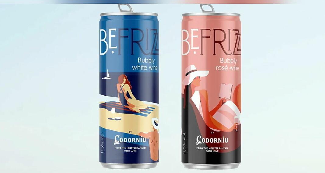 BeFrizz, musserende vin på boks. (Foto: Altia)