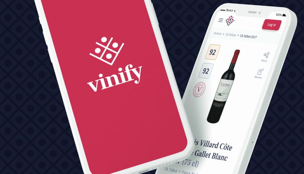 Smakeappen blir til Vinify. (Illustrasjon: Hegnar Digital Media)