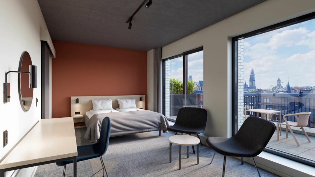 Den norske hotellkjeden Citybox åpner et nytt hotell i Belgia denne sommeren. (Foto: Citybox)