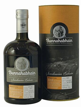 Bunnahabhain Single Cask Muscat Hogshead Finish Scandinavia Exlusive. (Foto: Altia)