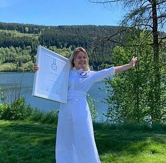 Synva Gjerde Knapstad ble kåret til beste kokkeelev under Tine MatCup 2020-21. (Foto: NKL)