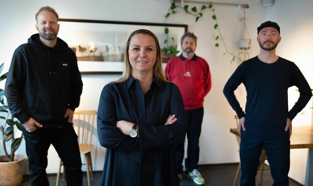 Maria Aas-Eng er ny konsernsjef for Lava Oslo. Her med gründerne. Fra venstre Tom Victor Gausdal, Maria Aas-Eng, Anders Braathen og Even Ramsvik. (Foto: Lava Oslo)