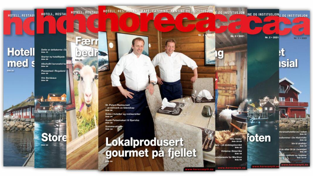 Forsiden på Horecas fjerde utgave i 2021. (Foto: Morten Holt/layout: Kari-Anne Ruud)