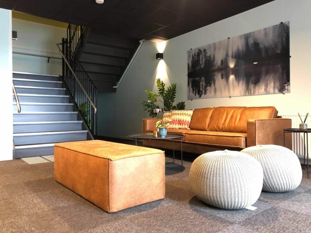 Resepsjonen på det nye Sure Hotel by Best Western Trondheim Airport. (Foto: Best Western)