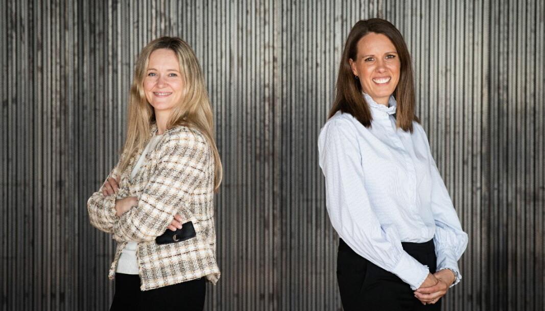 Siri Falch-Olsen og Ragnhild J. Nakling hos Ræder. (Foto: Ræder)