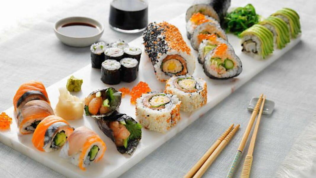 Sushi drar opp fiskekonsumet i Norge. (Foto: Norges Sjømatråd)