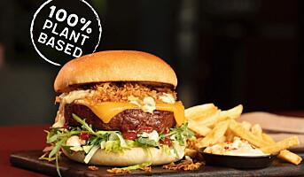 Tar sjansen og serverer kjøttfri burger