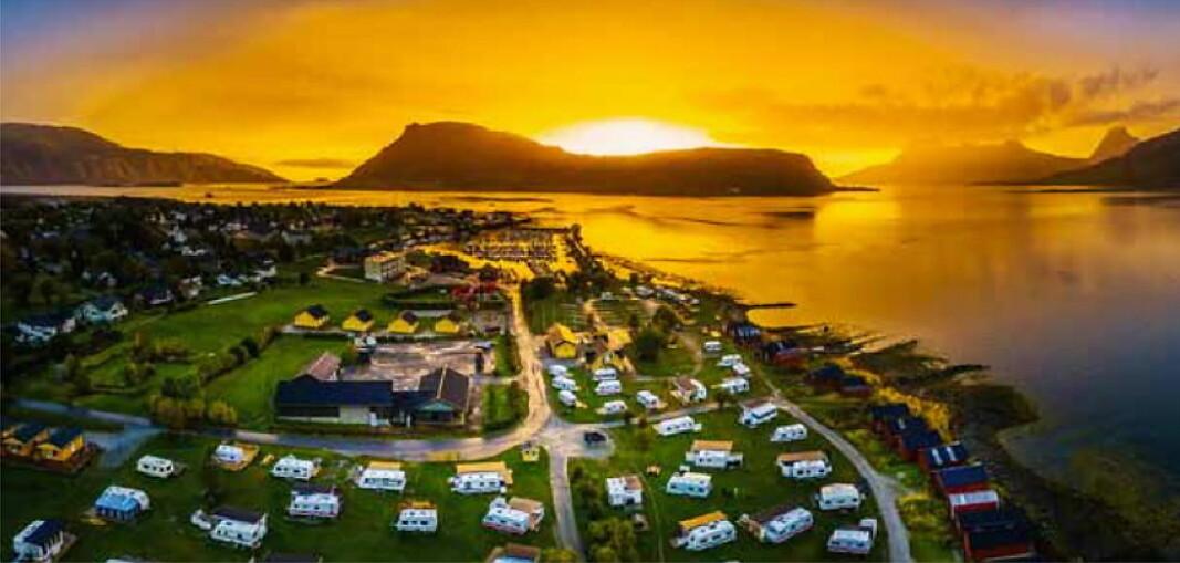 Havblikk Camping. (Foto: Far out Focus/Hans Petter Sørensen)