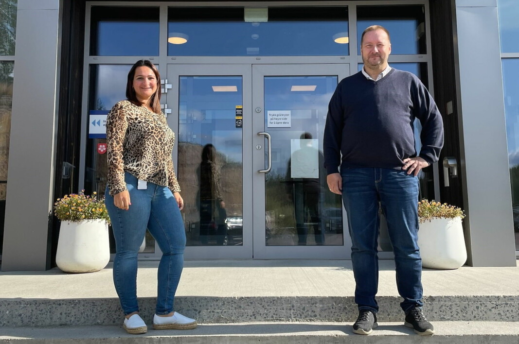 Sara Herregården og Tore Nyheim er nye ansatte hos Servicegrossisten Øst AS (tidligere Cater). (Foto: Servicegrossisten Øst AS)