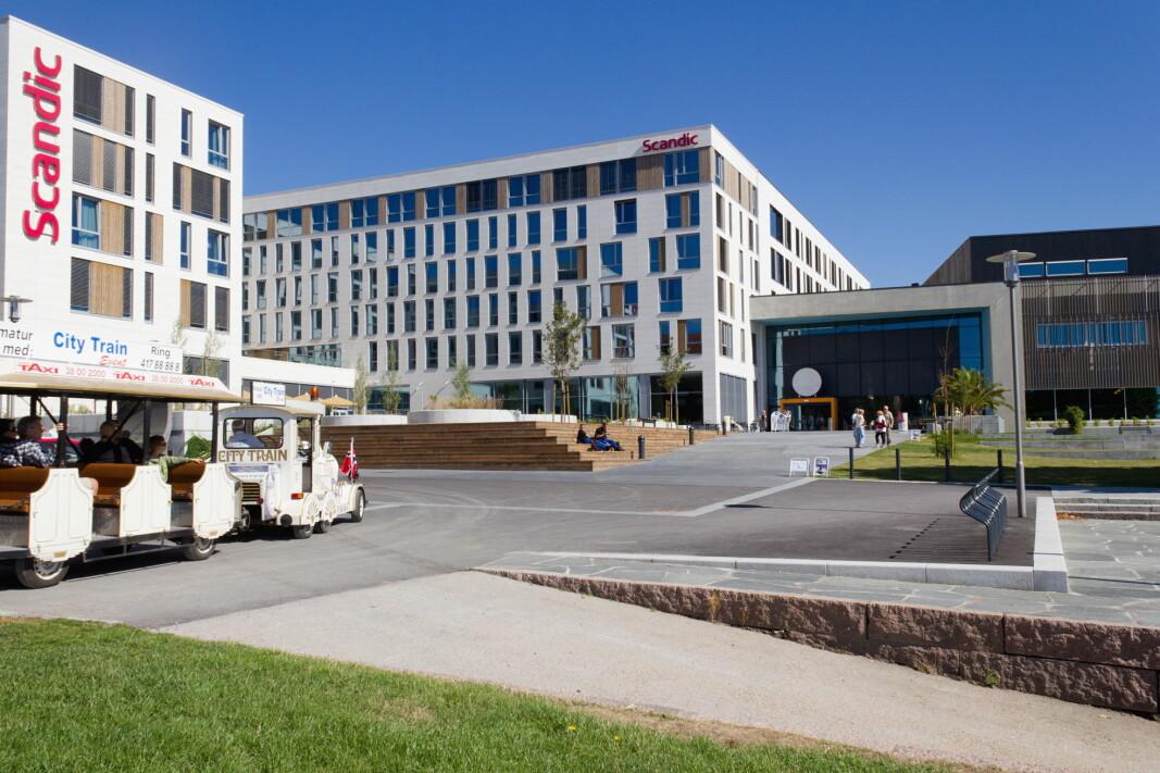 Scandic Bystranda i Kristiansand er ett av mange hoteller der du nå kan bo som student. (Arkivfoto: Scandic Hotels)