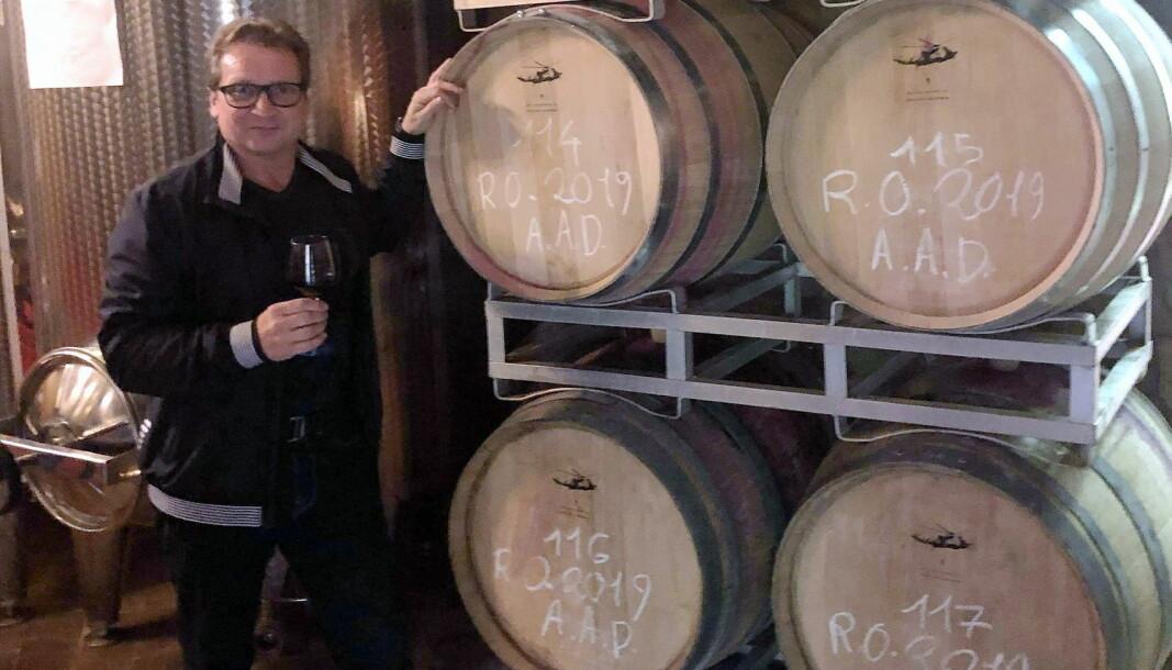 Tidligere navigatør i 330-skvadronen, Stein Erik Ansethmoen, lanserer nye italienske viner i det norske markedet. (Foto: Privat)