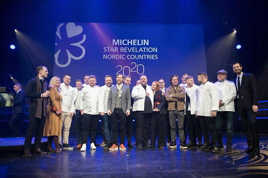 I september blir det nordisk stjernedryss i Stavanger. Her fra sist gang det ble delt ut nordiske stjerner av Guide Michelin, den gang i Trondheim. (Foto: Arkiv)