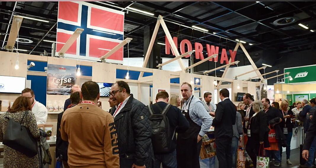 Norsk fellesstand på Anuga. (Foto: Norsk-Tysk Handelskammer)