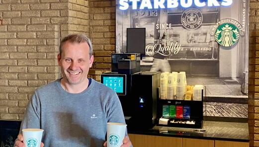 Starbucks-kaffe på Beitostølen