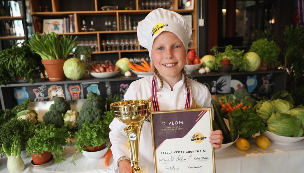 Stella Vedal Grøttheim er Norges aller første kokkespire. (Foto: Norsk Gastronmi)