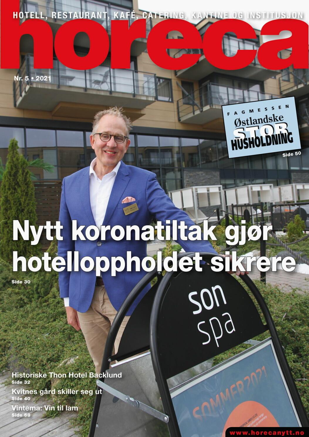 Forsiden på den femte utgaven av Horeca i 2021. (Foto: Morten Holt/layout: Tove Sissel Larsgård)