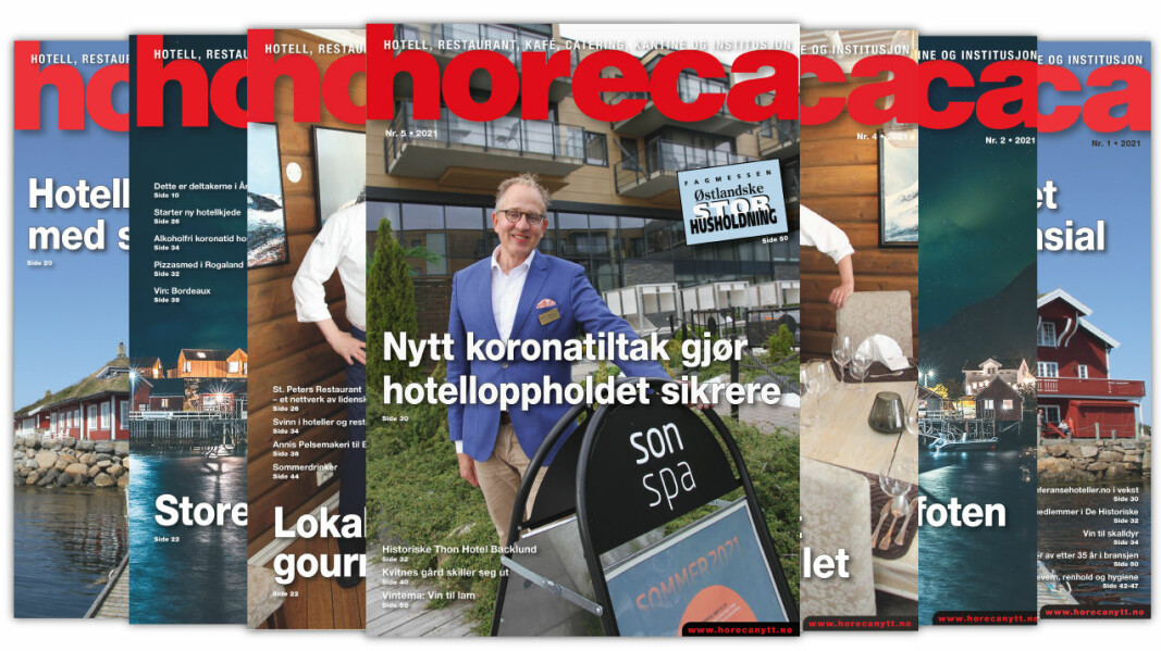 Forsiden på Horecas femte utgave i 2021. (Foto: Morten Holt/layout: Tove Sissel Larsgård)