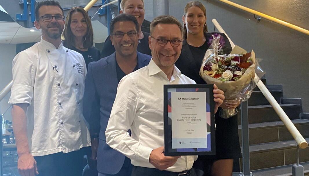 Quality Hotel Sarpsborg på Grålum har vunnet den regionale Mangfoldsprisen for Viken. (Foto: Nordic Choice Hotels)