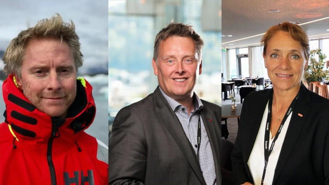 Nye distriktsdirektører i Scandic Norge. Fra venstre: Magne Jacobsen, Håvard Solum og Nina Askvik. (Foto: Scandic Hotels Norge)