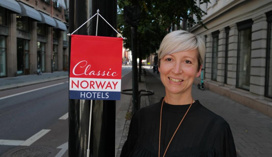 Hanna Stenberg overtok som hotelldirektør på Classic Norway-hotellet Mølla Hotell i Lillehammer sentrum. (Foto: Classic Norway Hotels)