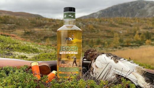 Jeger-snaps i hendig miljøvennlig flaske