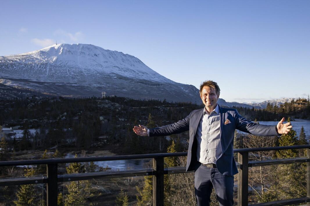 Hotelldirektør på Gaustablikk Høyfjellshotell, John Kristian Stubban. (Foto: Gaustablikk Høyfjellshotell)