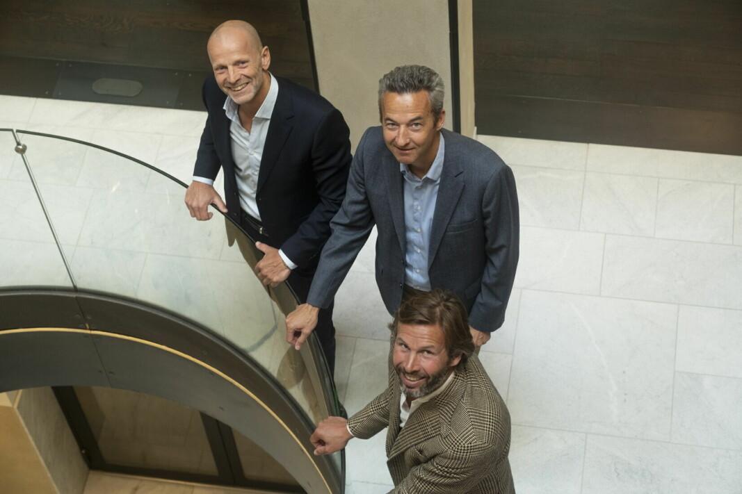 Lars Giil (fra venstre) Audun Stensvold og Øyvind Schage Førde. (Foto: Teodor Olving/Møller Medvind)