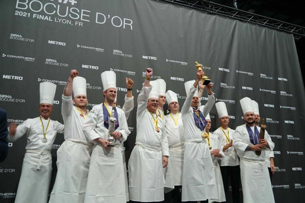 Pallen i Bocuse d'Or 2021. (Foto: Stiftelsen Norsk Gastronomi)