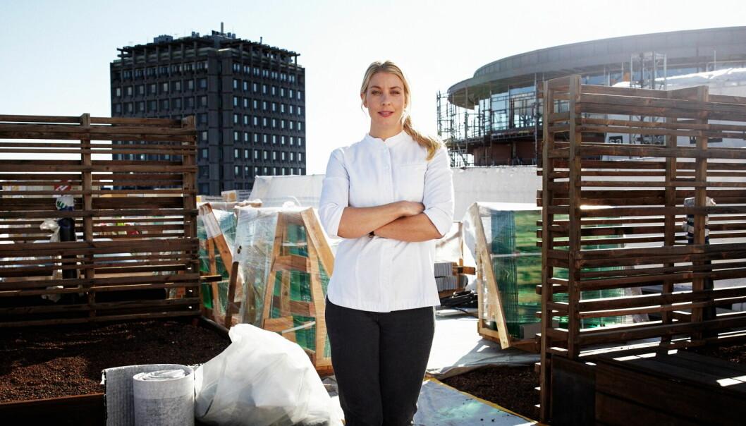 Den svenske stjernekokken Frida Ronge inntar takterrassen til Sommerro og åpner i september 2022 restauranten TAK. (Foto Lars Petter Pettersen)