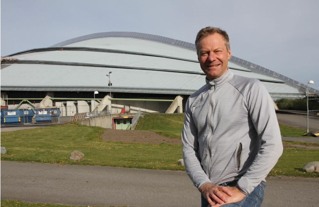 Vikingskipet på Hamar er arena for Østlandske Storhusholdning 2021. Her messegeneral Konrad Sel. (Foto: Morten Holt)