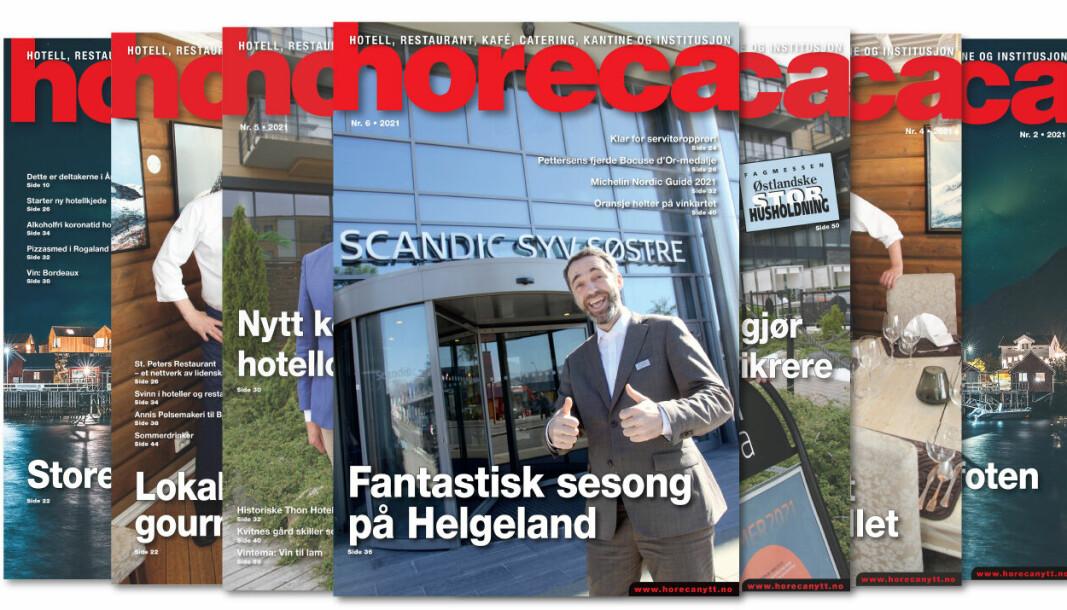 Forsiden på Horecas sjette utgave i 2021. (Foto: Morten Holt/layout: Tove Sissel Larsgård)